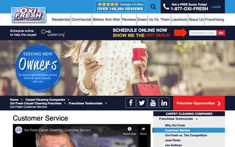 Screenshot of Support Page oxifresh.com - Customer Service   Oxi Fresh - captured Jan. 5, 2019