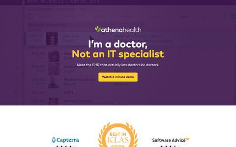 Screenshot of Landing Page athenahealth.com - athenaClinicals® | athenahealth - captured Aug. 11, 2017