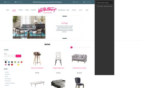 Screenshot of Blog Terms Page hdbuttercup.com - Sectional Sofas - Accent Chairs - HD Buttercup - captured Dec. 5, 2015