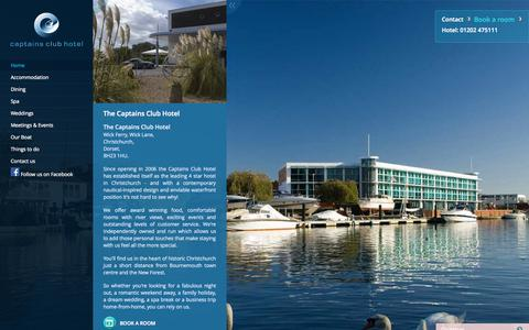 Screenshot of Home Page captainsclubhotel.com - Captains Club Hotel - captured Sept. 27, 2014