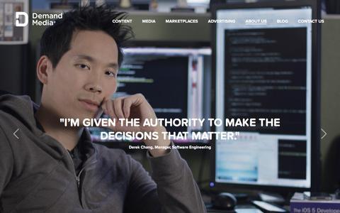 Screenshot of Jobs Page demandmedia.com - Demand Media � Careers - captured Dec. 2, 2015
