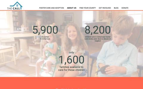 Screenshot of About Page thecallinarkansas.org - About us – The CALL - captured Oct. 22, 2017