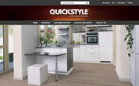Screenshot of Home Page quickstyle.com - Homepage - captured March 24, 2017