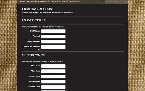 Screenshot of Signup Page mybigcommerce.com - beanify - Create Account - captured Sept. 18, 2014