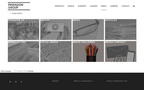 Screenshot of Press Page paragon.co.za - Media | PARAGON ARCHITECTS - captured July 14, 2017