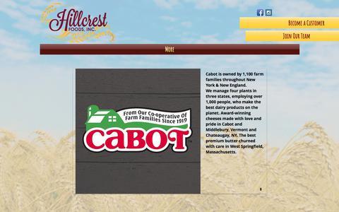 Screenshot of Services Page hillcrestfoodsne.com - hillcrest-foods-new | Product Information - captured July 6, 2017