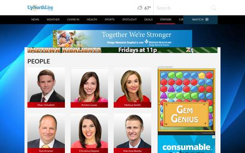 Screenshot of Team Page upnorthlive.com - Traverse City People | News, Weather, Sports, Breaking News | WPBN - captured Sept. 25, 2018