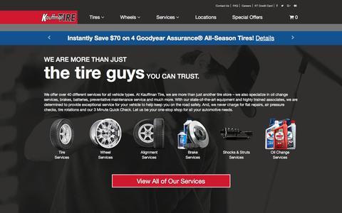 Screenshot of Services Page kauffmantire.com - Kauffman Tire - captured June 9, 2017