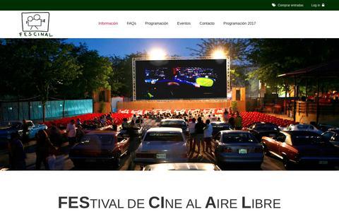 Screenshot of Home Page fescinal.es - Cine de Verano Madrid || Fescinal - captured July 1, 2017