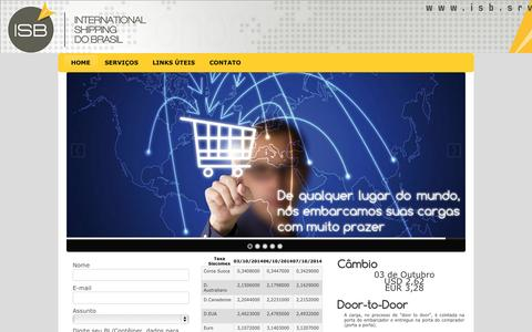 Screenshot of Home Page isb.srv.br - Home - ISB - International Shipping do Brasil - captured Oct. 6, 2014