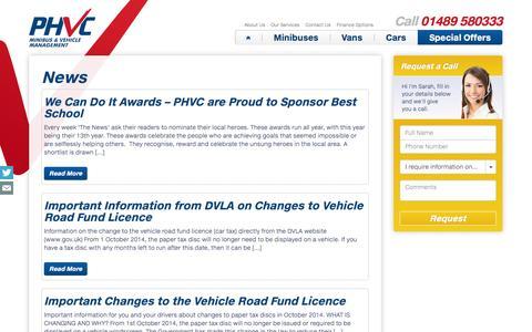 Screenshot of Press Page phvc.co.uk - Vehicle Leasing & Fleet Management News   PHVC - captured Oct. 1, 2014
