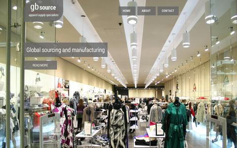 Screenshot of Home Page gbsource.co.uk - GB Source | Apparel Sourcing Services - captured Jan. 22, 2016