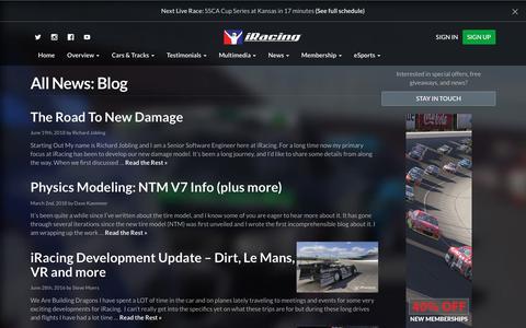 Screenshot of Blog iracing.com - Blog Archives - iRacing.com   iRacing.com Motorsport Simulations - captured Sept. 21, 2018