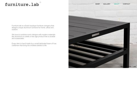 Screenshot of About Page furniture-lab.nl - furniture-lab |   ABOUT furniture-lab - captured Aug. 5, 2016