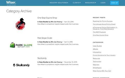 Screenshot of Case Studies Page wiser.com - Case Studies Archives - Wiser, a Quad Analytix company - captured April 26, 2017