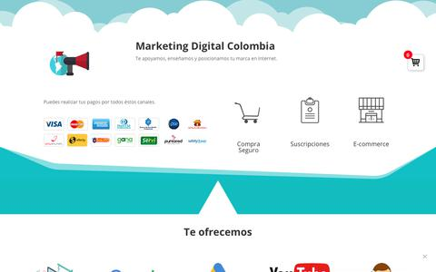Screenshot of Home Page marketingdigitalcolombia.com.co - ▶ Marketing Digital Colombia - Agencia Online de Marketing - captured Feb. 8, 2019