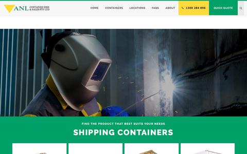 Screenshot of Home Page anlcontainers.com.au - Shipping Container, Container Hire, Shipping Container For Sale, ANL - captured Oct. 7, 2017