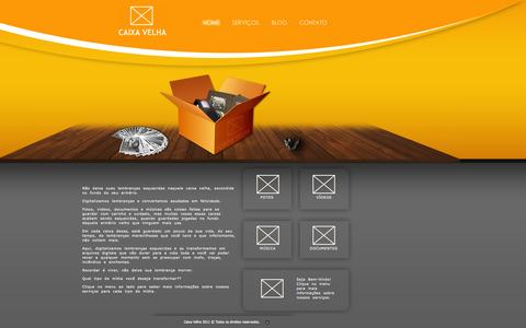 Screenshot of Home Page caixavelha.com - CaixaVelha.com - captured Sept. 26, 2014