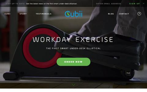 Screenshot of Home Page mycubii.com - Cubii | Work Out While You Work - captured Nov. 21, 2015