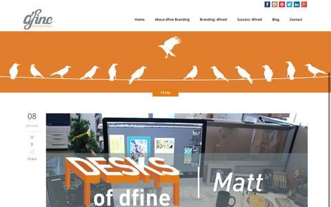 Screenshot of Team Page dfinebranding.com - dfine branding | Team Archives - dfine branding - captured Jan. 8, 2016