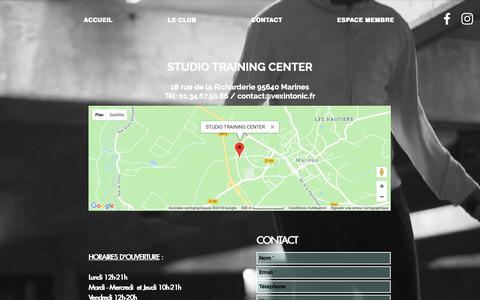 Screenshot of Contact Page vexintonic.fr - Studio Training Center - captured Oct. 29, 2018