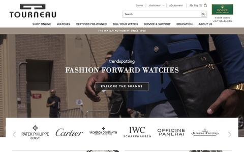 Screenshot of Home Page tourneau.com - Tourneau -  115 Years, Authorized Retailer for Watch Brands - captured Oct. 1, 2015