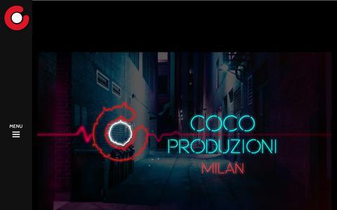 Screenshot of Home Page cocoproduzioni.com - Produzione Video Milano / Studio Fotografico Milano / Video Eventi Milano - captured July 14, 2018