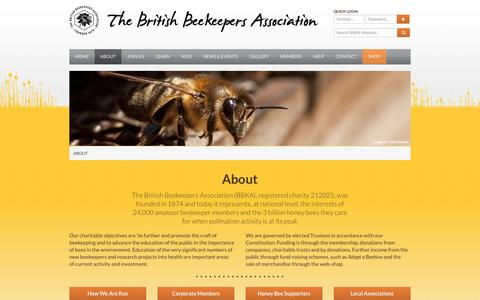 Screenshot of About Page bbka.org.uk - About - British Beekeepers Association (BBKA) - captured Sept. 22, 2014