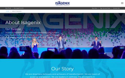 Screenshot of About Page isagenix.com - About Isagenix - US - captured Sept. 23, 2018