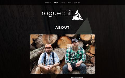Screenshot of About Page roguebuilt.co - about | roguebuilt - captured Sept. 30, 2014