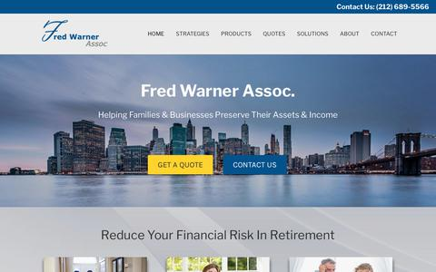 Screenshot of Home Page fredwarner.com - Fred Warner Assoc. - Independent Insurance Agency - captured Oct. 14, 2017