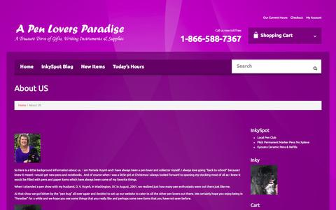 Screenshot of About Page penloversparadise.com - About US | A Pen Lovers Paradise - captured Oct. 2, 2014