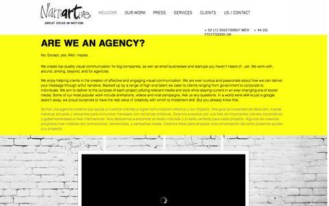 Screenshot of Home Page narrartive.com - Narrartive- Visual Communication - captured Feb. 13, 2016