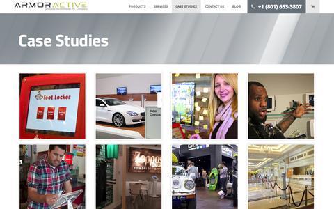 Screenshot of Case Studies Page armoractive.com - Case Studies - ArmorActive - captured Sept. 25, 2014