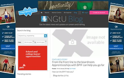 Screenshot of Blog notgoingtouni.co.uk - Apprenticeships & Debt-Free Education – Find Funded College Courses, Distance Learning and Work Experience in the UK - NGTU - captured Jan. 11, 2016