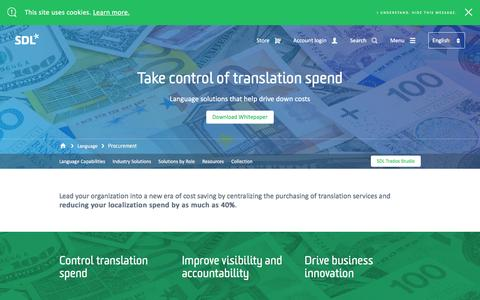 Language Translation Services for Procurement | SDL