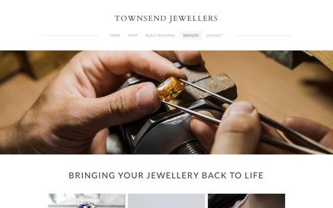 Screenshot of Services Page townsendjewellers.com.au - Services - Townsend Jewellers - captured Nov. 13, 2017