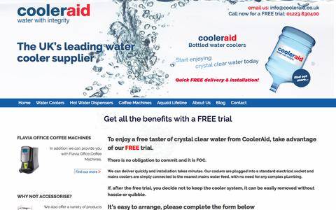 Screenshot of Trial Page cooleraid.co.uk - Free Trial - captured Nov. 12, 2016
