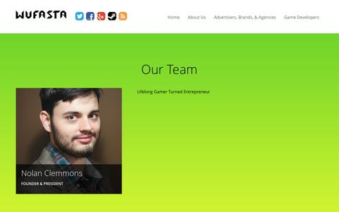 Screenshot of Team Page wufasta.co - Our Team - Wufasta™ - captured Oct. 29, 2014