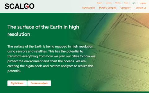 Screenshot of Login Page scalgo.com - Home -  SCALGO - captured July 25, 2018