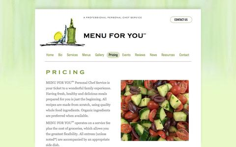 Screenshot of Pricing Page menuforyouinc.com - Pricing - captured June 10, 2017