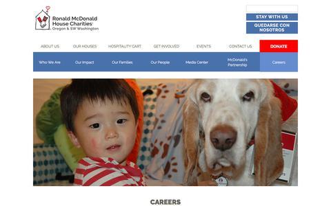 Screenshot of Jobs Page rmhcoregon.org - Careers - Ronald McDonald House Charities Oregon and Southwest Washington - captured June 29, 2018