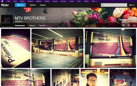 Screenshot of Flickr Page flickr.com - Flickr: mtvbrothers' Photostream - captured Oct. 23, 2014