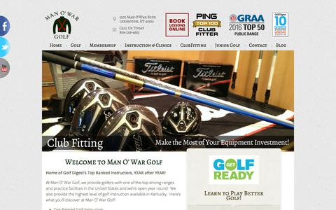 Screenshot of Home Page manowargolf.com - Man O' War Golf - Lexington, KY - captured Oct. 5, 2017
