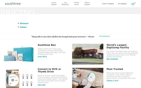 Screenshot of Pricing Page southtree.com - Pricing – Southtree - captured Jan. 19, 2019