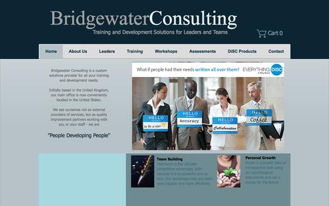 Screenshot of Home Page bridgewaterconsulting.com - bridgewater consulting - captured Oct. 11, 2017