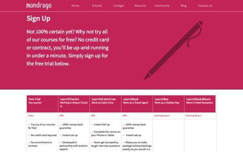 Screenshot of Signup Page mondrago.co.uk - Sign Up | Mondrago Multimedia - captured Oct. 7, 2014