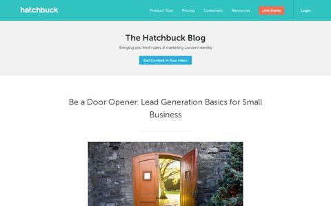 Screenshot of Blog hatchbuck.com - Blog Posts Archive - Hatchbuck - captured July 19, 2014