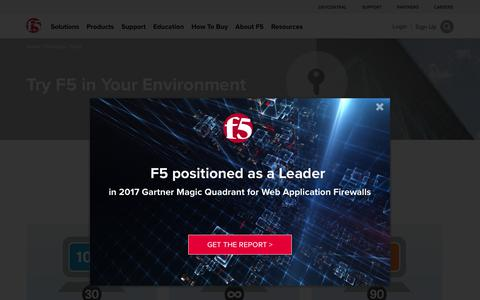 Screenshot of Trial Page f5.com - F5 Product Trials - captured Aug. 10, 2017
