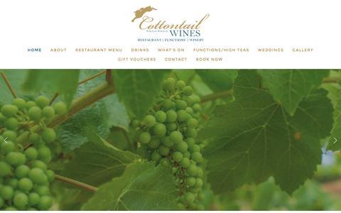 Screenshot of Home Page cottontailwines.com.au - Cottontails - captured Feb. 1, 2016